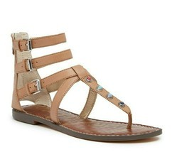 SAM EDELMAN Genevive Studded Gladiator sandals sz 10 - $25.94
