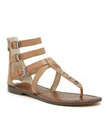 SAM EDELMAN Genevive Studded Gladiator sandals sz 10 - £20.47 GBP