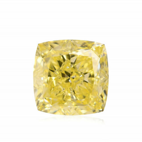 Primary image for 1.59Cts Fancy Yellow Loose Diamond Natural Color Cushion Cut GIA Certified