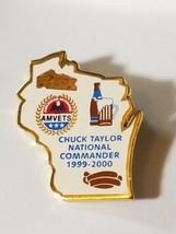 WISCONSIN AMVETS CHUCK TAYLOR NATIONAL COMMANDER 1999-2000 Lapel Pin - $7.00