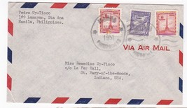 MANILA PHILPPINES MAILED TO INDIANA MAY 1 1951 - $3.98