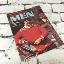 Sweaters For Men Crochet And Knit Pattern Booklet Leaflet Vintage 1972 - $9.89