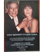"Tony Bennett & Lady Gaga ""Cheek to Cheek"" 11 x 17 Soft Poster - $19.95"