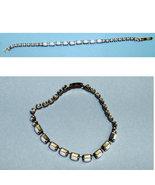 vintage bracelet white stones 50s - $8.50