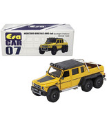 Mercedes Benz G63 AMG 6x6 Pickup Truck with Spotlight Yellow with Black ... - $26.38