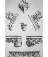 FRANCE Amboise Castle Chapel Interior Details - SUPERB 1843 Antique Print - $18.00