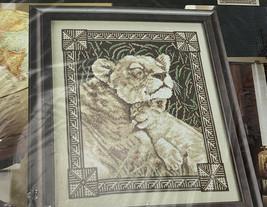 Bucilla Counted Cross Stitch Contentment Lion Lioness Cub Big Cat 43517 2005 - $13.98