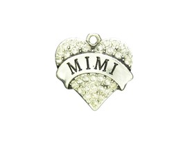 Mimi Clear Crystal Heart Charm Only Jewelry Assembly Beads Craft Supplies - $7.82