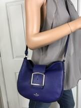 Kate Spade Healy Lane Lilith Deep Indigo Pebbled Leather Shoulder Bag Cr... - $98.01