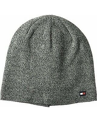 Tommy Hilfiger Mens Fine Gauge Marled Fleece Lined Hat (Charcoal)