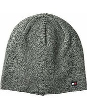 Tommy Hilfiger Mens Fine Gauge Marled Fleece Lined Hat (Charcoal) - $22.28