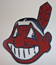 """Cleveland Indians Embroidered PATCH~3 3/4"""" x 2 1/2""""~Iron Sew On~MLB~Ships FREE - $4.95"""