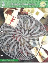 Blue Pinwheel Doily~Perfect Pinwheel Crochet Pattern - $1.99