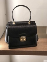 New Coach F 37833 Small Patent Crossgrain Leather Avary Crossbody Bag Black - $140.00