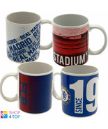 FOOTBALL SOCCER CLUB TEAM CERAMIC MUG CUP COFFEE TEA OFFICIAL LICENSED NEW - $13.49