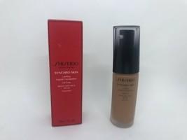 Shiseido SYNCHRO SKIN Lasting Foundation SPF 20 Neutral 5 Oil Free 1 Oz - $28.50