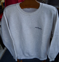 Jerzees Sweat Shirt Smith Barney XL Grey Crew Neck Long Sleeve Heather Grey - $13.14 CAD