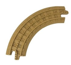 1 FISHER PRICE GEO TRAX TAN CURVED GROOVE TRACK ROAD PLASTIC REPLACEMENT... - $4.71