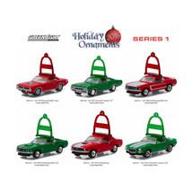 Greenlight Holiday Ornaments Series 1, 6pc Diecast Car Set 1/64 Diecast ... - $54.68