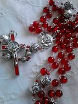 Peppermint Roses Rosary - $24.60