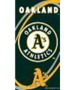 "OAKLAND A'S MLB 30"" X 60"" BEACH TOWEL NEW - $14.99"