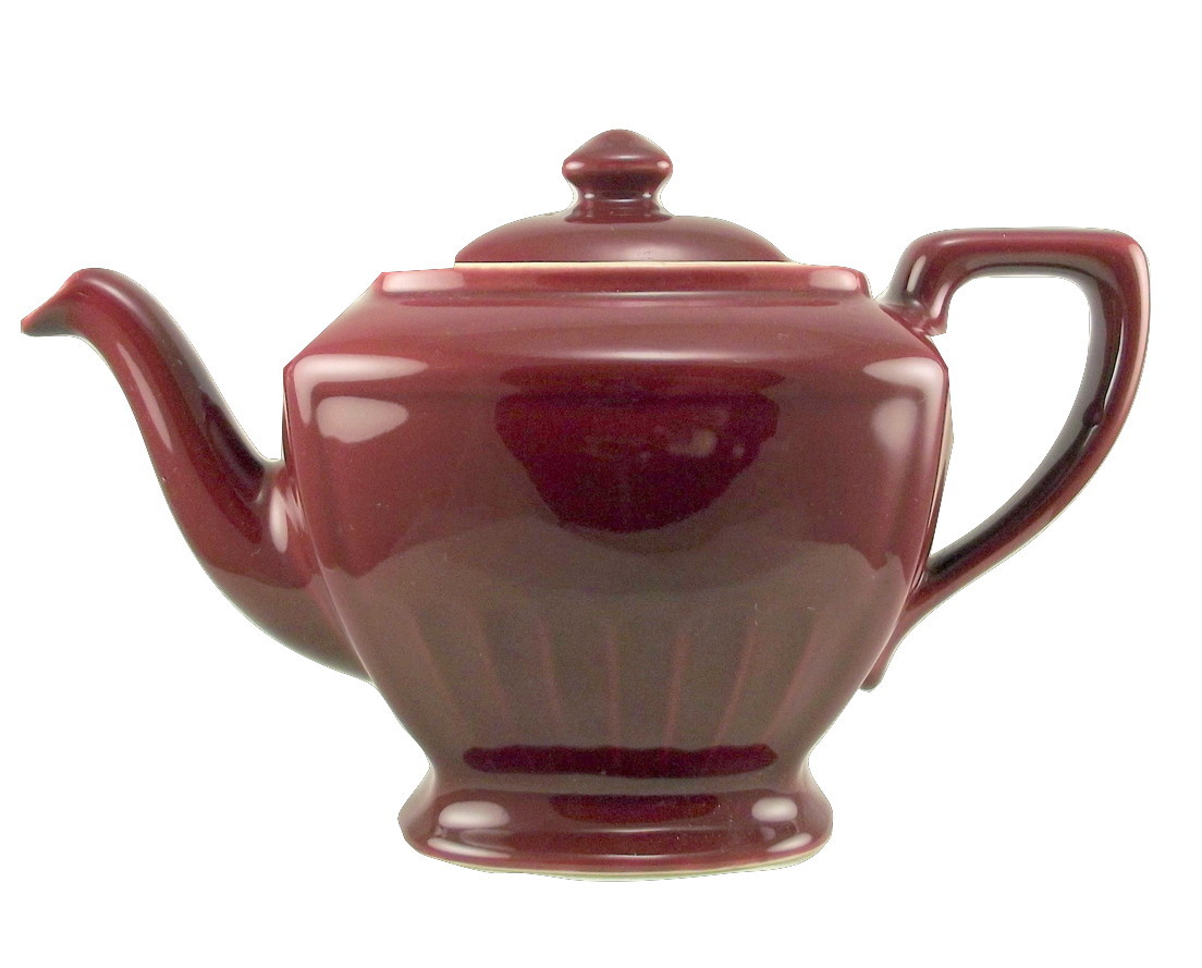 Vintage Hall China Hollywood maroon teapot 4 cup