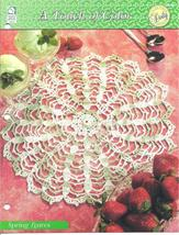 Spring Leaves Doily~A Touch of Color Crochet Pattern - $1.99