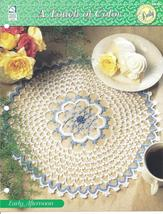 Early Afternoon Doily~A Touch of Color Crochet Pattern - $1.99