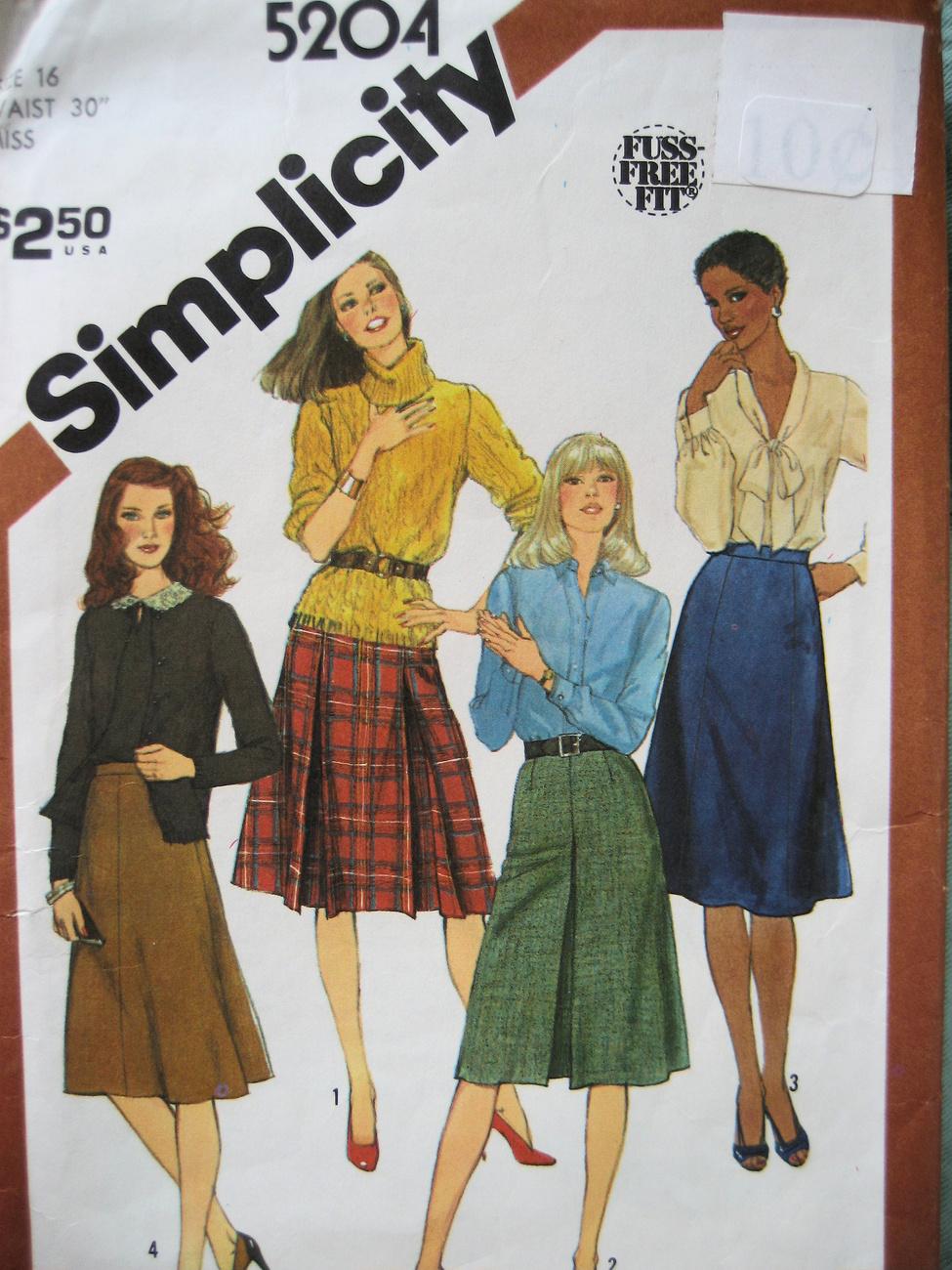 Simplicity 5204  Misses Size 16 (W 30