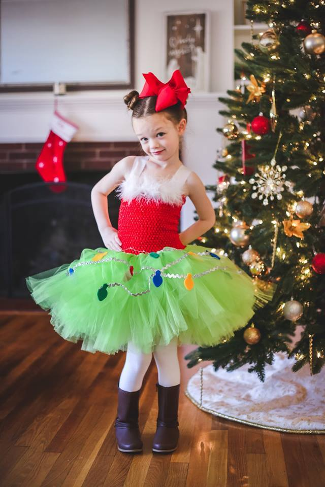 Primary image for Grinch Tutu Dress, Girls Christmas Tutu, Christmas Pageant Tutu