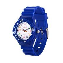 Wolfteeth Watches for Kids Boys Analog Quartz Watches Dark Blue 5ATM Wat... - $6.77