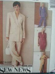 McCall's 6977 Lined Jacket Skirt Panties Misses 16-20 1994 Bonanza