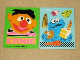 Pair of Sesame Street Tray Puzzles by Playskool - Cookie Monster/Ernie -... - $11.99