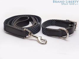 HERMES Pet dog collar Lead set Black Blue Gray  - $1,135.53