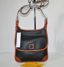 Dooney & Bourke Pebble Leather Black Saddle Crossbody image 2