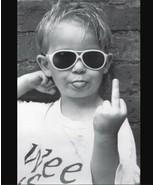 Hi Mum Middle Finger Kid Funny Photo Cool Wall Decor Art Print Poster 24... - $23.73