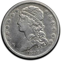 1838Capped Bust Silver 25¢ Quarter Coin Lot# A 511