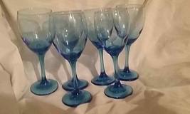 "Cristar Rioja Water/Wine Goblet - Sky Blue - 10oz - Set of 6- 8"" high - $26.18"