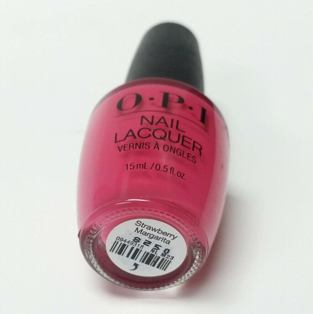 OPI Nail Lacquer Polish Strawberry Margarita NL M23 Hot Pink Color 0.5 oz 15 mL