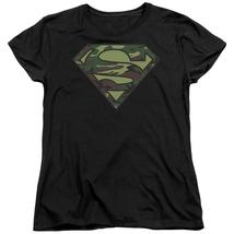 Superman - Camo Logo Short Sleeve Women's Tee Shirt Officially Licensed T-Shirt - $20.99+