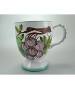 Grape Cluster glazed Clay Coffee Mug Cup 407479 Italy - $6.25