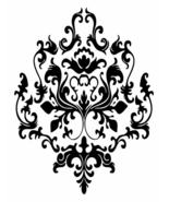 3 BAROQUE graphics vinyl DECAL WALL STICKER or Stencil Design - $26.02