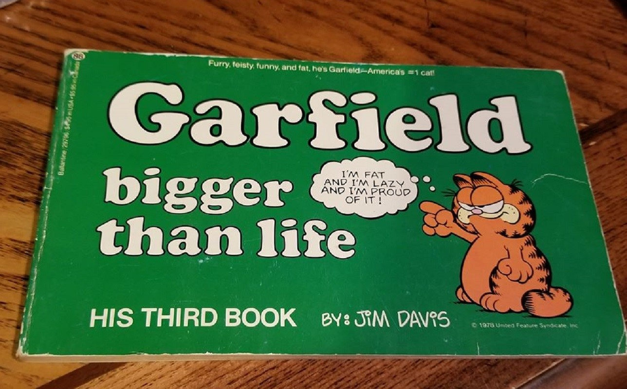 Primary image for First Edition Garfield Bigger Than Life Third Book by Jim Davis