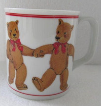 Vintage CURZON Paraglazed Teddy Bears Novelty Collectible Coffee Mug Mad... - $7.99