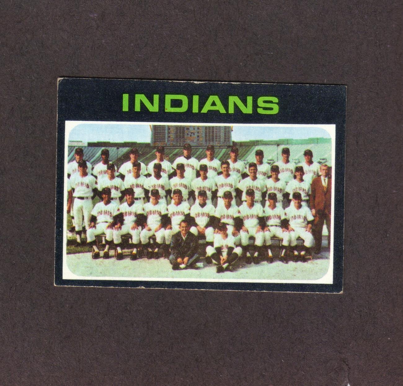 1971 Topps # 584 Cleveland Indians Team Card Bonanza