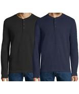 St Johns Bay Long Sleeve Henley Shirt 100% Cotton Signature Men's Size XXL - $15.00