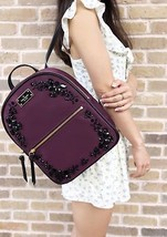 Kate Spade Wilson Road Embellished Small Bradley Backpack Deep Plum Blac... - ₨9,549.27 INR