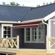 UK UV Sun Garden Shade Retractable Patio Awning Manual Shelter Outdoor C... - $205.12