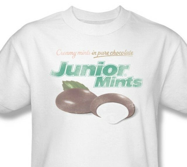 Junior Mints T-shirt retro vintage distressed candy brand 100% cotton  tee TR104