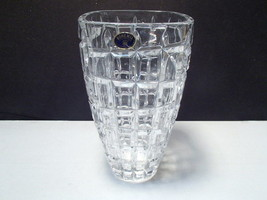 "Bohemia 8 1/4"" Crystal Vase ~~~~ a beauty w label - $25.95"